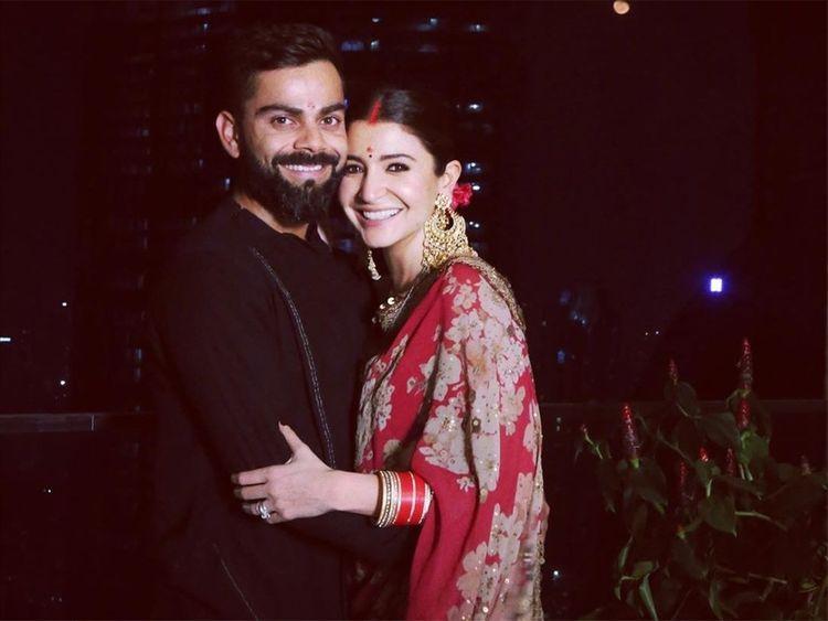 Virat Kohli with Anushka Sharma