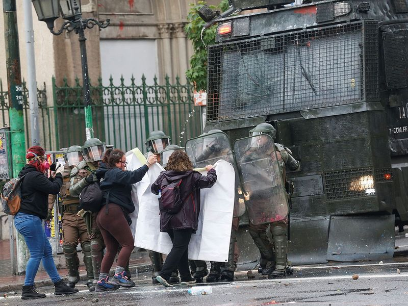 Chile protests in pictures