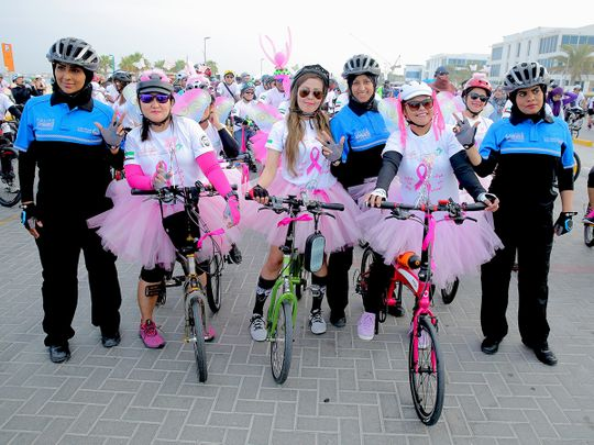 Dubai Pink Ride for breast cancer