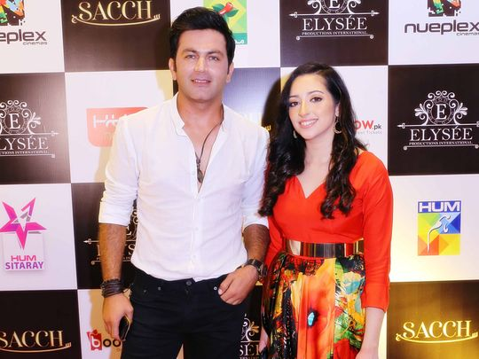 Asad Zaman and Elysee Sheikh at the trailer launch of SACCH-1571637916843