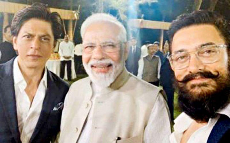 Bollywood actors Shah Rukh Khan and Aamir Khan