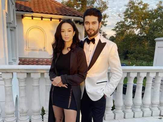 Draya Michelle and Shayan Khan at the shoot of the web series BE SOMEONE-1571638156314