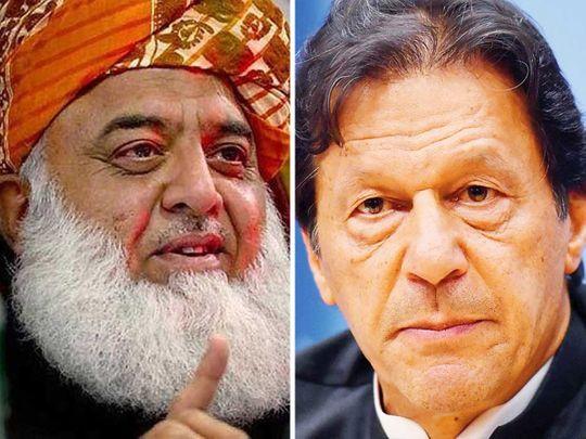 Maulana Fazalur Rehman and Prime Minister Imran Khan