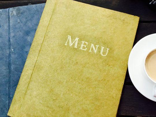 menu card generic