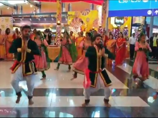 Diwali kathak dance at Dubai International airport