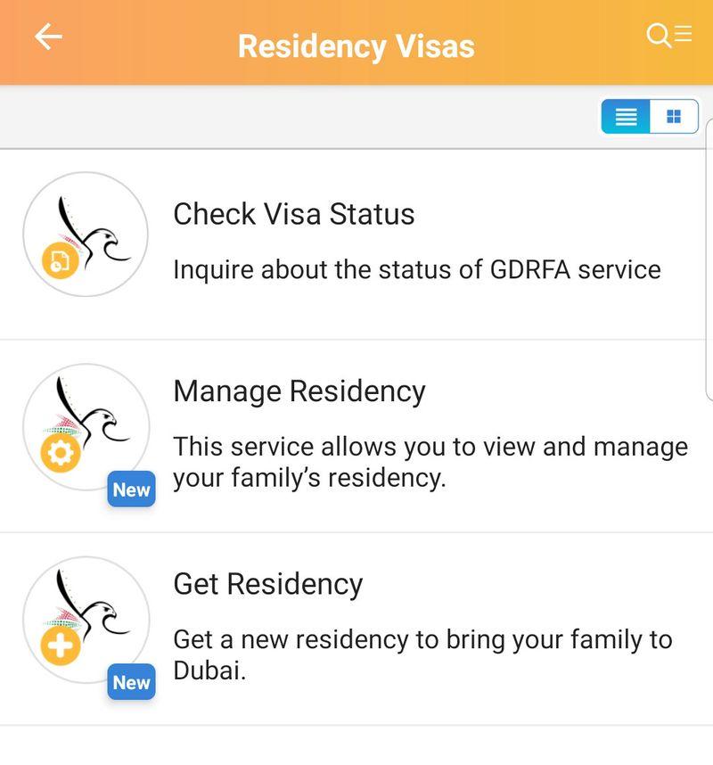 Residency visa app