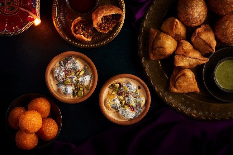 Samosas for Diwali Emirates airline