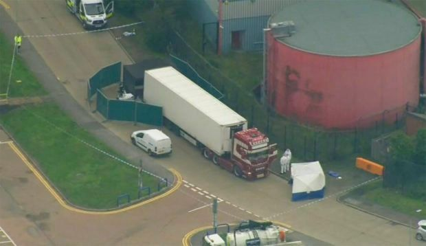 container truck UK dead