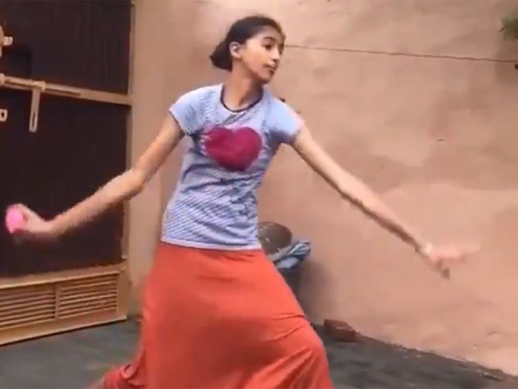 Girl emulates Harbhajan Singh's bowling action; video goes viral