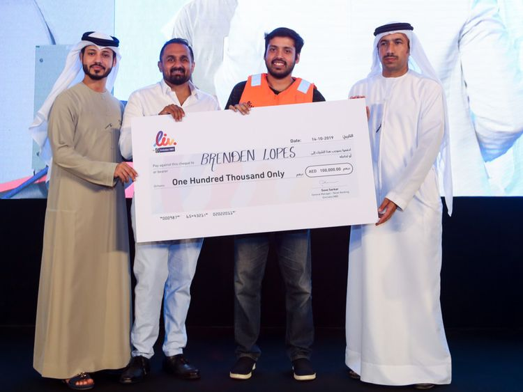 NAT 191024 Young Brendan Lopes is the proud owner of island in Canada and AED 100,000 cash prize-1571915109564