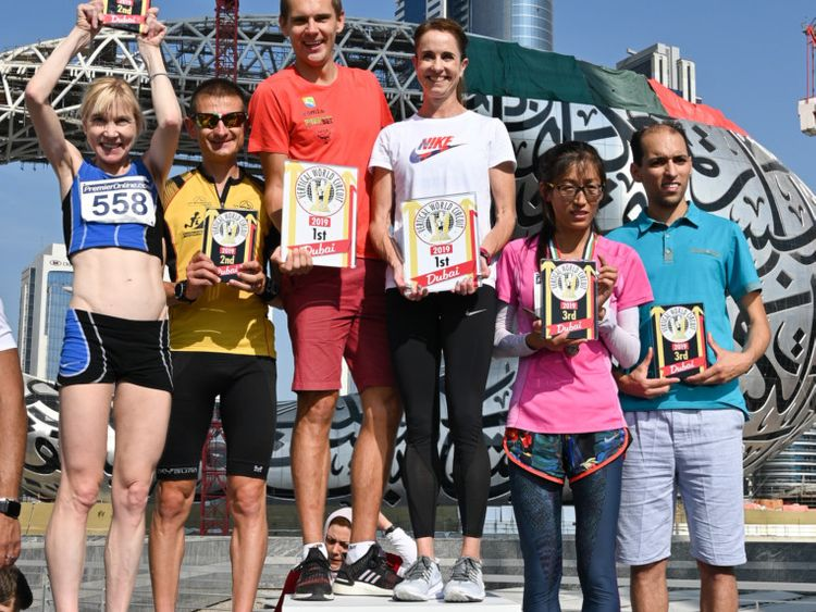 NAT 191025 Dubai Holding SkyRun 2019- Race Winners - Female and Male Categories-1572001126463