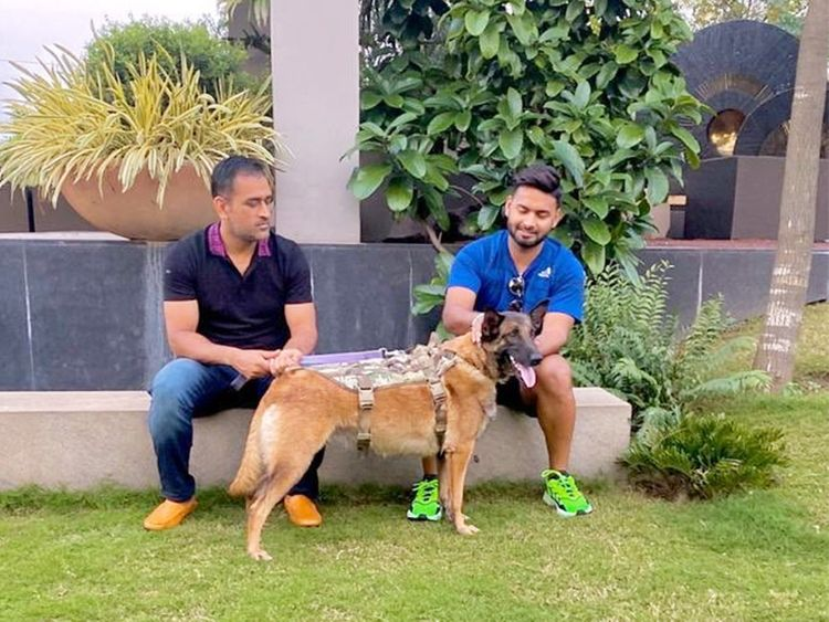 Rishabh Pant with MS Dhoni
