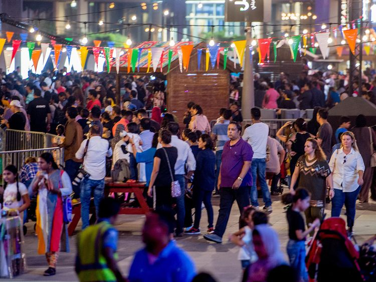The Diwali festival at Dubai Festival City.
