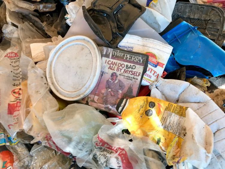 The trash that Ecoton, a conservation group in Indonesia, purchased from a local paper company included American DVD cases, food packaging and milk cartons.(Shashank Bengali  Los Angeles Times)-1572020952537