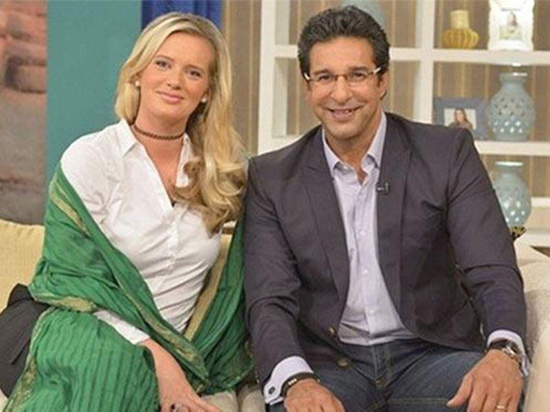 Wasim Akram and his wife Shaniera