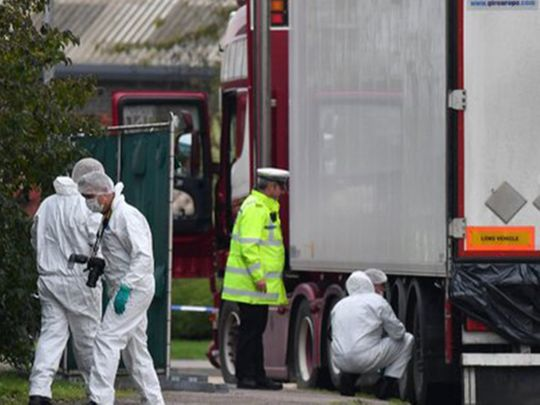 39 people found dead in a refrigerated trailer in Essex this week