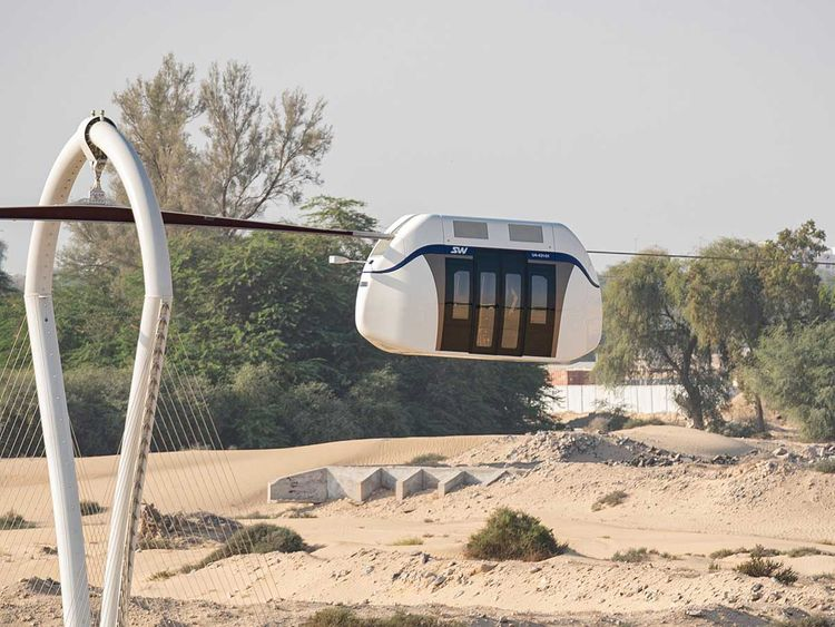 Skyway transport in Shrajah