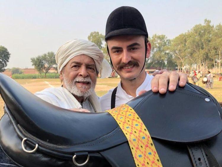 Qavi Khan and Mert Sismanlar at the shoot of GAWAH REHNA-1572240872645