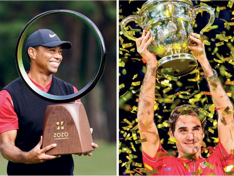 Tiger Woods and Roger Federer