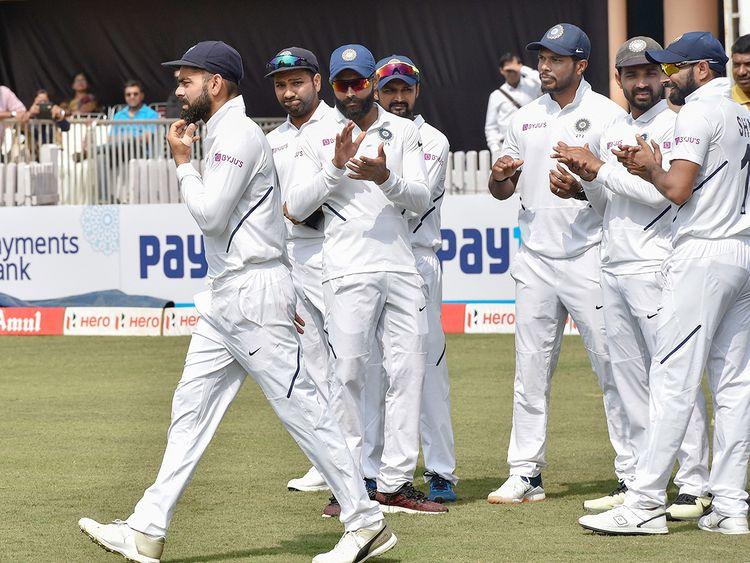 Indian captain Virat Kohli and team