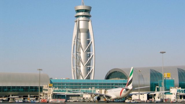 The Dubai International air traffic control Tower DXB ATC