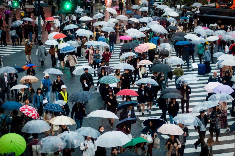 Busiest pedestrian crossing Tokyo