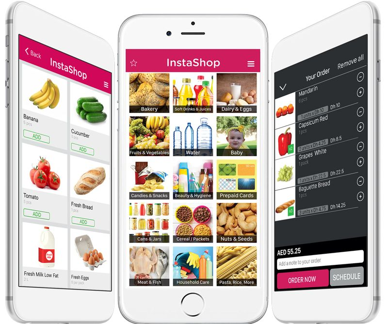 InstaShop mobiles
