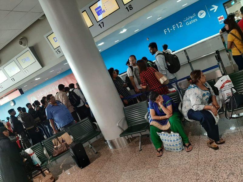 Air India passengers stranded in Dubai airport