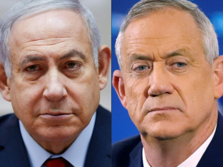 OPN 191101  Netanyahu and Gantz-1572600995902