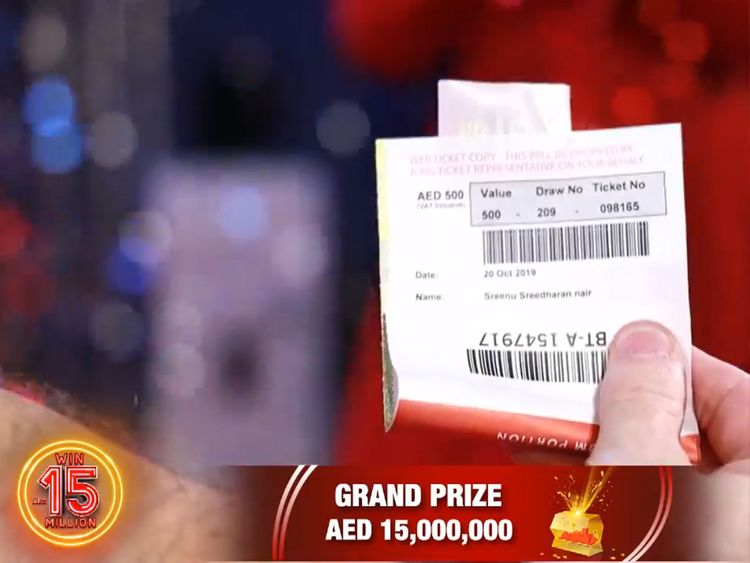 Sreenu Sreedharan Nair's winning ticket