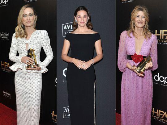 Jennifer Garner, Olivia Wilde and Laura Dern go glam for Hollywood Film Awards 2019