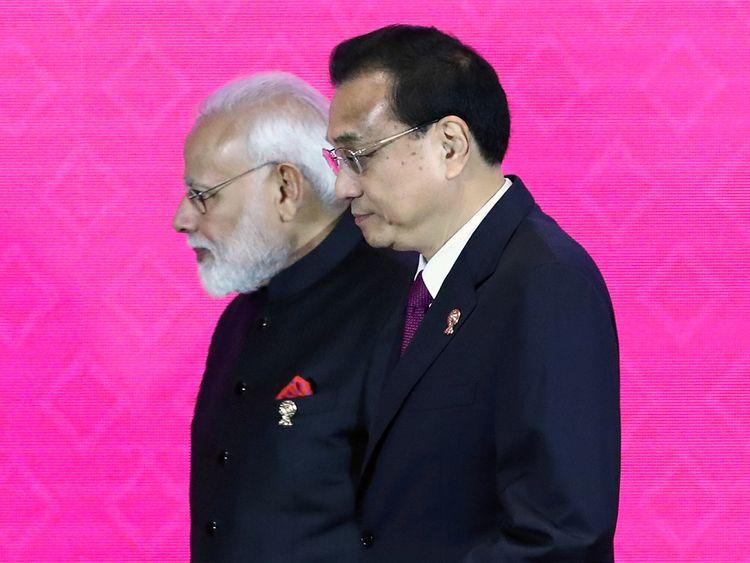 Narendra Modi and Chinese Premier Li Keqiang