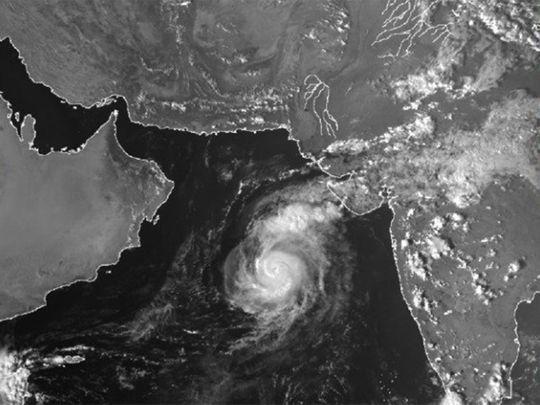 The satellite image