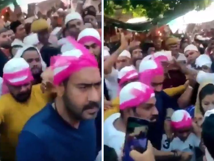 Actor Ajay Devgn and his young son Yug, visited the Ajmer Sharif dargah