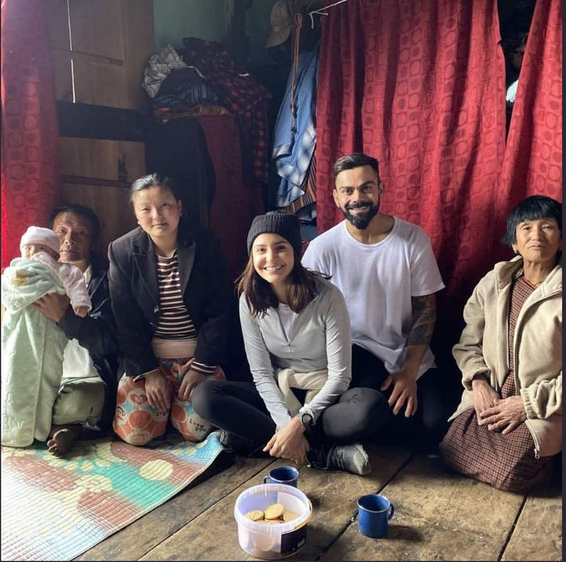 Anushka and Virat in Bhutan