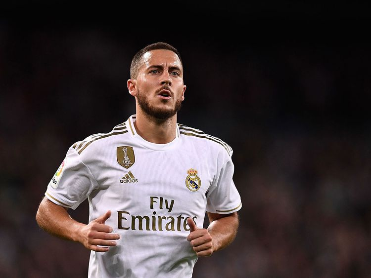 Real Madrid's Eden Hazard