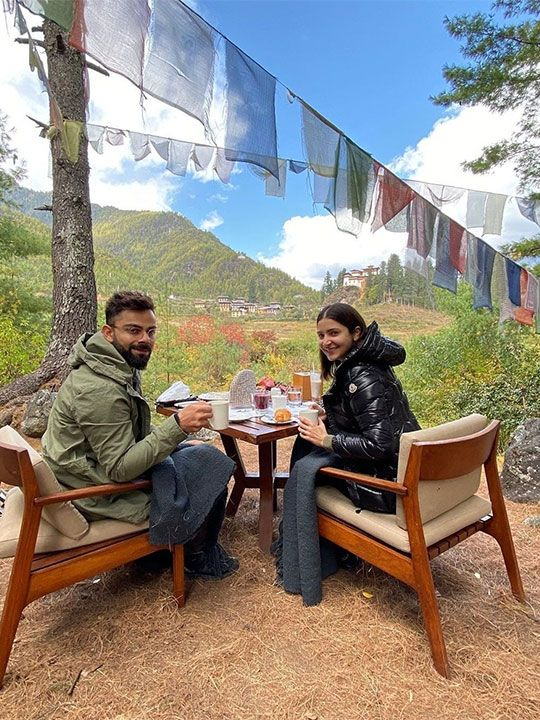 Virat and Anushka in Bhutan