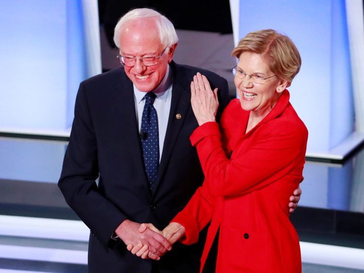 opn Bernie Sanders and Elizabeth Warren-1572953765534