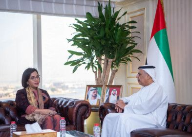 BUS 191106 Obaid Humaid Al Tayer meets Indonesian Minister of Finance-1573042639939