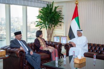 BUS 191106 Obaid Humaid Al Tayer meets Indonesian Minister of Finance2-1573042643226