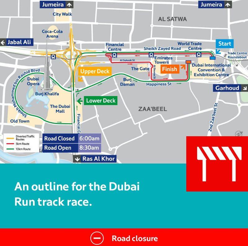 Dubai 30x30 road closures