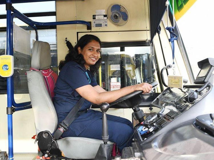 Suja Thankachan UAE bus driver
