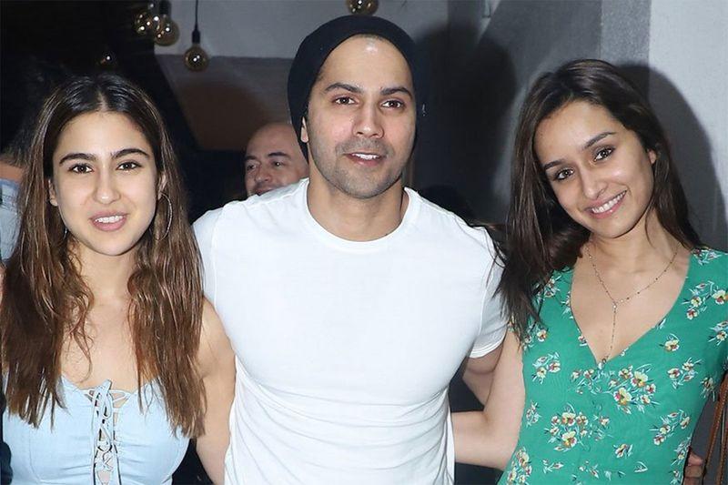 Sara Al Khan, Varun Dhawan and Shraddha Kapoor