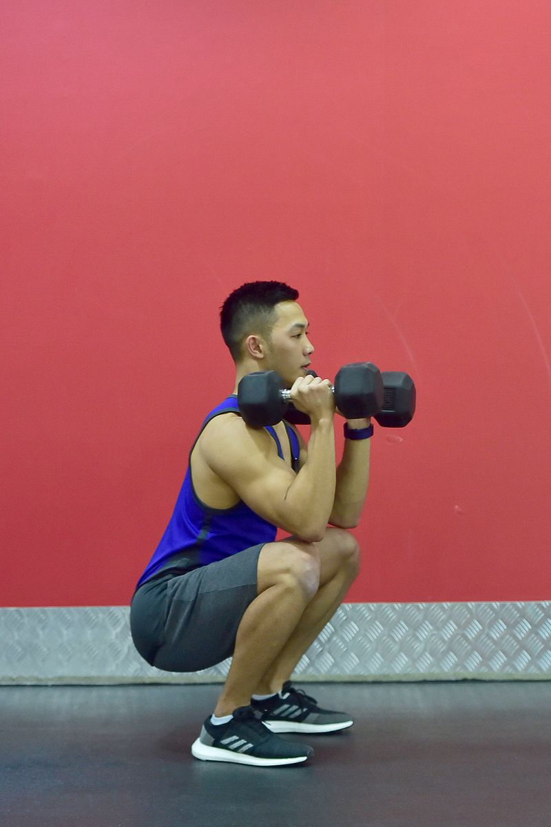 Dumbbell thrusters.