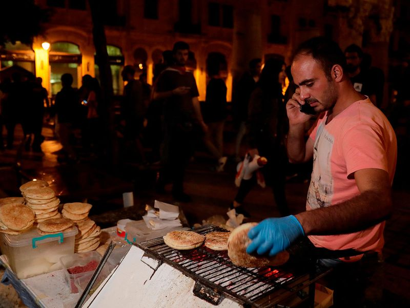Lebanon protests_street vendors