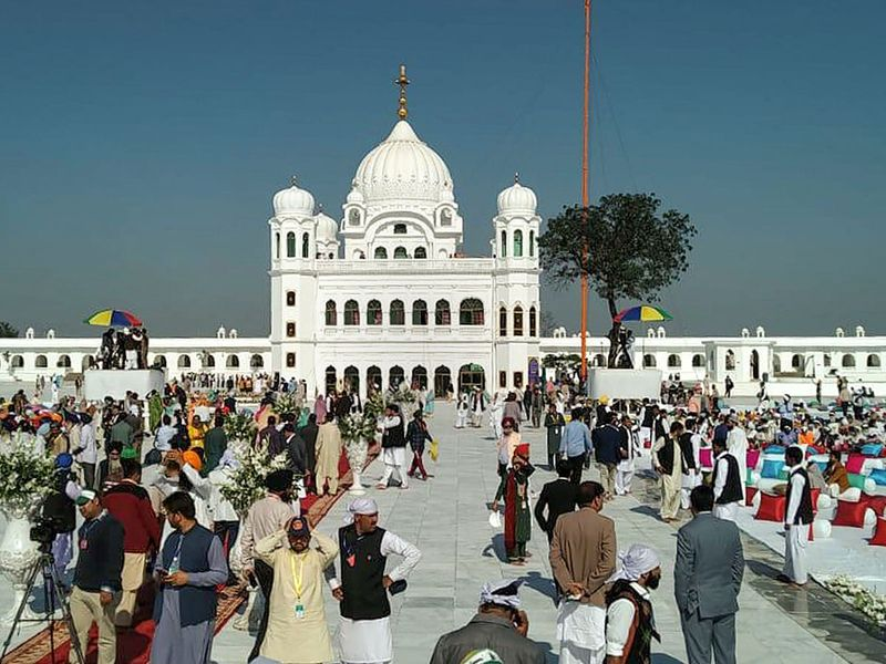 Sikh devotees gather at Kartarpur Sahib