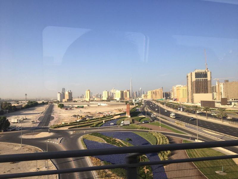 View from the Dubai Metro train taken