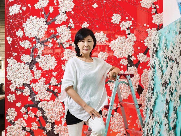WKR 191107 Portrait in studio of Korean artist Ran Hwang.-1573296553377