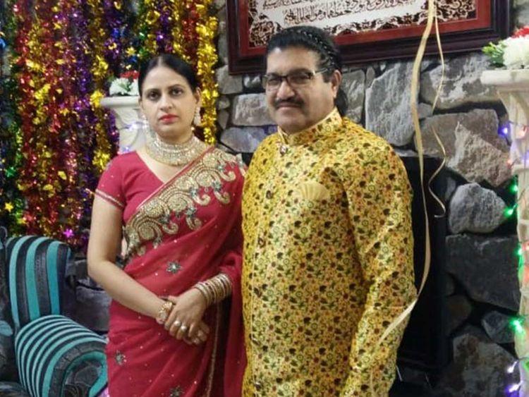 Kajal with her husband