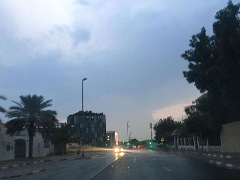 rain Dubai dark clouds over Dubai 000010212